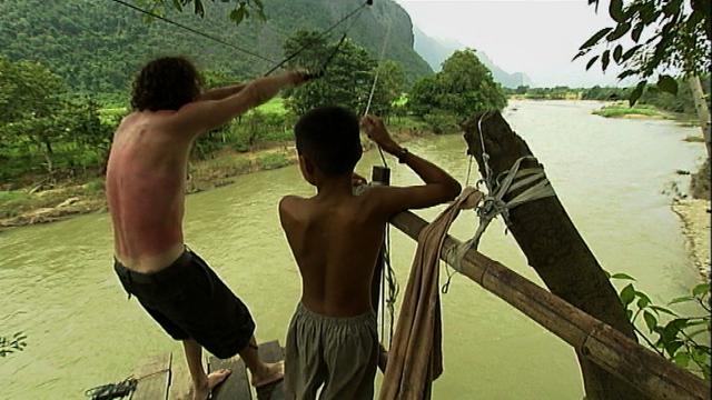 Backpackers in Laos